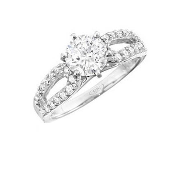 Side LoopedEngagement Ring Stock # 12-1256XGQ-BG
