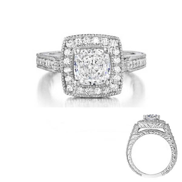 Square Halo Engagement Ring Stock # 12-1256ZGD-D