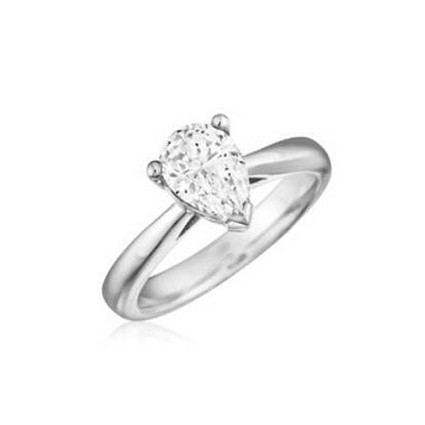 Pear Shape Engagement Ring Stock # 12-125Z5Q-C