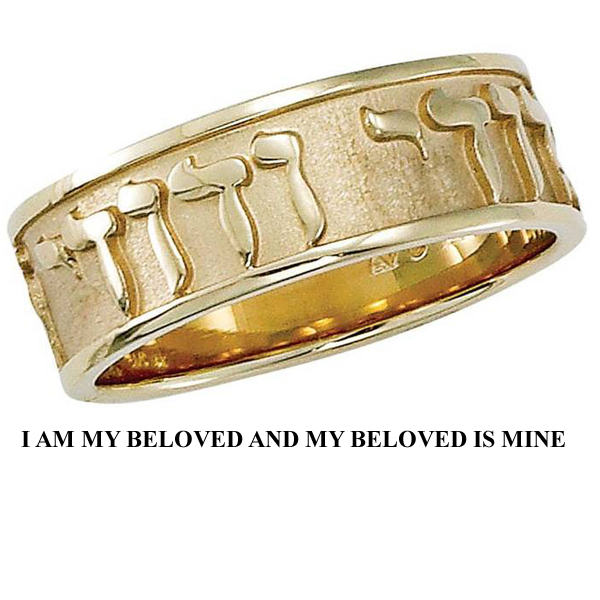 I Am My Beloved Ring Stock # 14-23CHEG