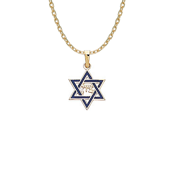 14KY  ENAMELED STAR OF DAVID Stock # 18-81CZF