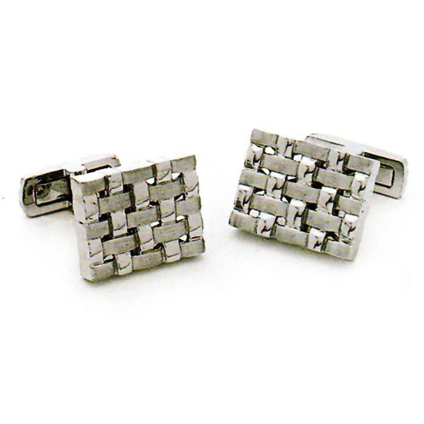 14k W.G. Rectangular Cufflinks Stock # 18-CL-DAH