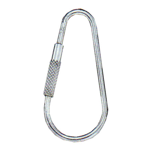 "S.S. TEARDROP KEY RING W/SCREW 2"" Stock # 18-KRCF"