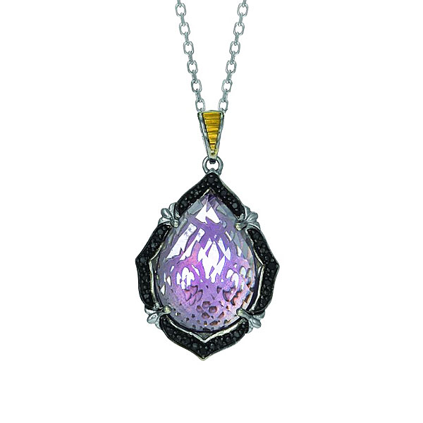 SS & 18k Color Pendant. Stock # 36-1991216-AGI