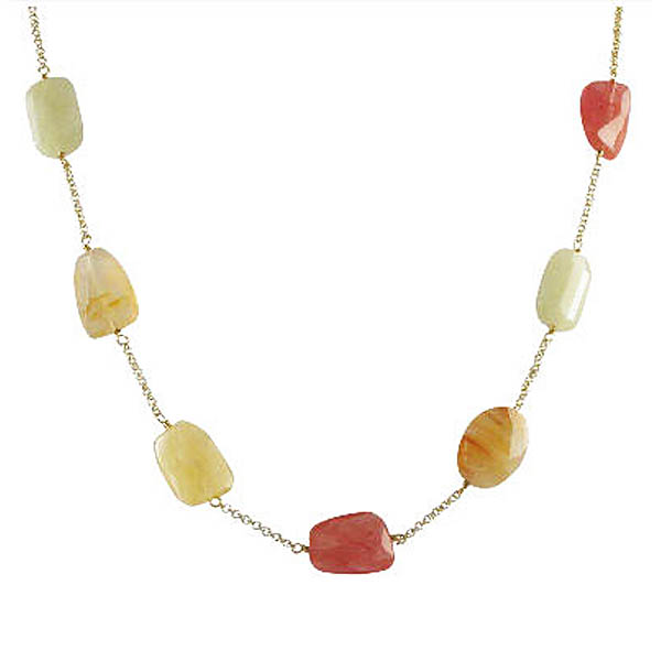 Semi-Precious Faceted Stone Chain. Stock # 41-14AABCE
