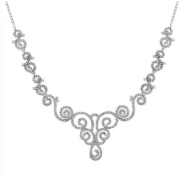 Sterling Silver CZ Necklace. Stock # 41-F14AAAA