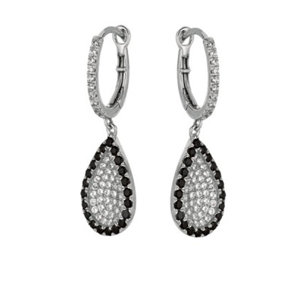 AG: TEARDROP PAVE EARRINGS Stock # 81-1735B3BI