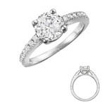 Traditional Engagement Ring Stock # 12-1256QGZ-AA