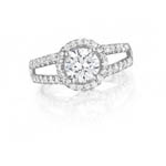Double Shank Engagement Ring Stock # 12-1256QGZ-D