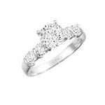Traditional Engagement Ring Stock # 12-1256XGC-AI