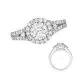 Double Row Engagement Ring Stock # 12-1256XGQ-CH