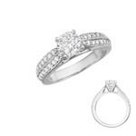 Double Row Shank Engagement Ring Stock # 12-1256ZGC-CG