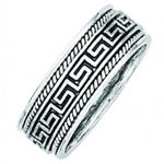 Greek Key Wedding Band Stock # 12-70BGH