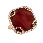 Red Agate Diamond Ring Stock # 16-RRGQE18171919