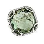 Green Agate Diamond Ring Stock #  16-RRGQE7119