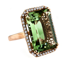 Green Agate Diamond Ring Stock # 16-RRGWA1919A