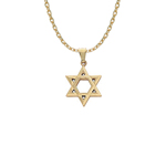 "14KY D/C STAR OF DAVID 1 1/8"" Stock # 18-81EGE"