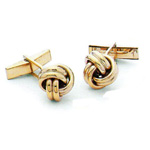 14K Y.G. Knot Cufflinks Stock # 18-CL-FGD