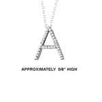 "14k Dia 'A' Pendant.  5/8"" High. 16pt TW G-H- SI2. 16"" Cable Chain. Stock # 29-1912913-A"