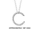 "14k Dia 'C' Pendant. 5/8"" High. 13pt TW G-H- SI2. 16"" Cable Chain. Stock # 29-1912913-C"