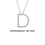 "14k Dia 'D' Pendant. 5/8"" High. 14pt TW G-H- SI2. 16"" Cable Chain. Stock # 29-1912913-D"