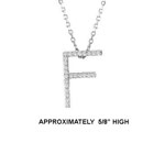 "14k Dia 'F' Pendant. 5/8"" High. 13pt TW G-H- SI2. 16"" Cable Chain. Stock # 29-1912913-F"