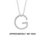 "14k Dia 'G' Pendant. 5/8"" High. 17pt TW G-H- SI2. 16"" Cable Chain. Stock # 29-1912913-G"