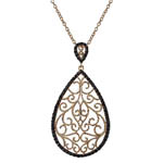Rose Plated Tear Drop Pendant. Stock # 41-G1614DF
