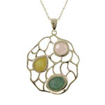 Gold Plated Multi-Color Pendant. Stock # 41-G1614FD