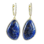 Lapis/ Lazurite SS Earrings. Sock # 41-G523DGLAPIS