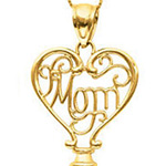 "Mom and Love Key. 18"" Chain. Stock # 81-164AXC"