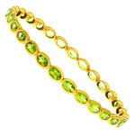 SS Bangle with Peridot. Stock # 81-16736-CAIH
