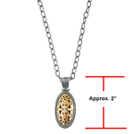 "18k Y. G. & S.S. Oxidized Oval Pendant. Timeless ""Byzantine"" Collection. Stock # 81-1991216CG"