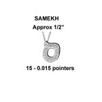 Hebrew Samekh Small Stock # Samekh Small