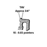 Hebrew Tav Large Stock # Tav Large